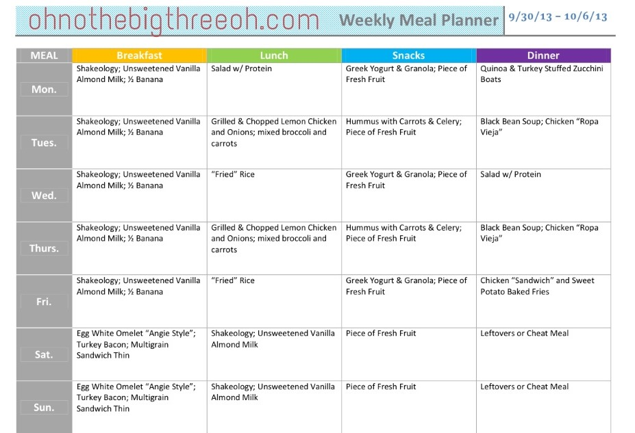 30 day meal plan to lose weight - anuvrat.info
