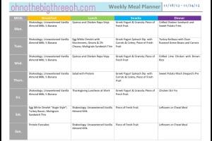 Meal Plan 11.18.13