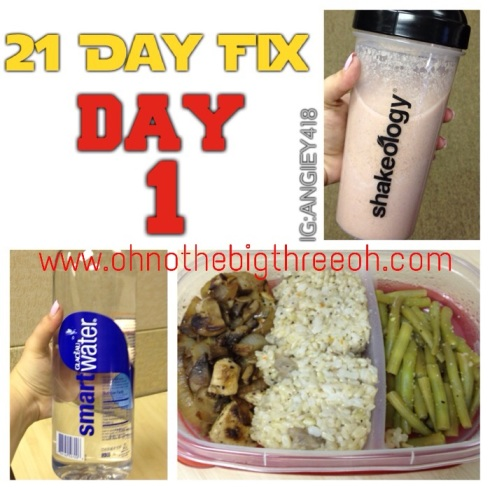 21 Day Fix Day 1