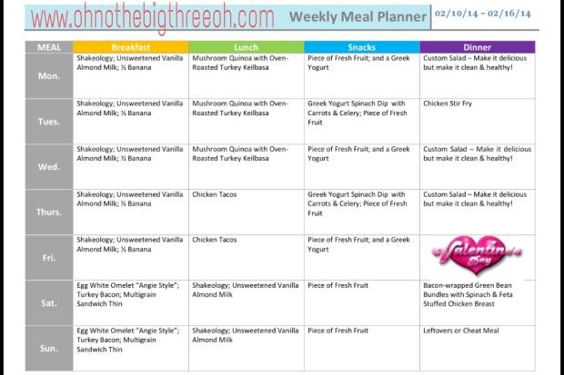 Meal Plan - 02.10.14