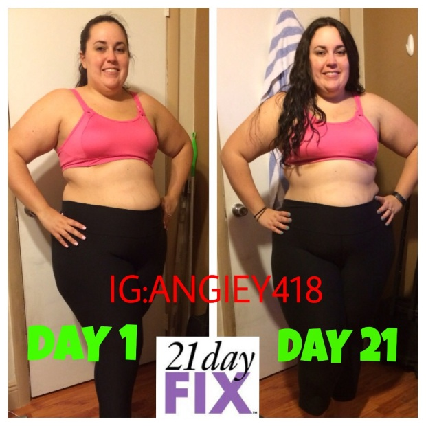 Here are MY 21 Day Fix first round results. Progress is important!