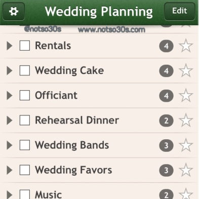 NotSo30s - Wedding Planning Checklist